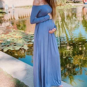 Periwinkle maxi dress